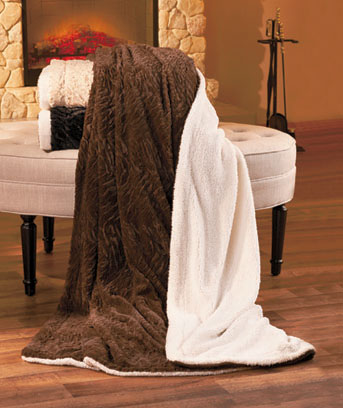 Sherpa-Backed Faux-Fur Throws
