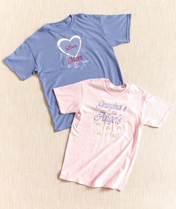 Personalized Mom or Grandma T-Shirts
