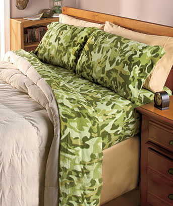 Camo Fleece Sheet Sets