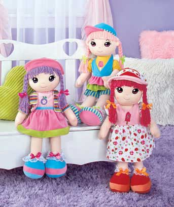 "20"" Lollypop™ Fabric Dolls"