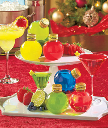 Holiday Cocktail Mix Ornament Sets