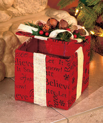 Country Holiday Gift Box Decor