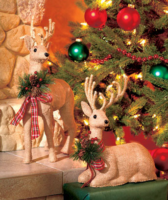 Country Holiday Reindeer Decor