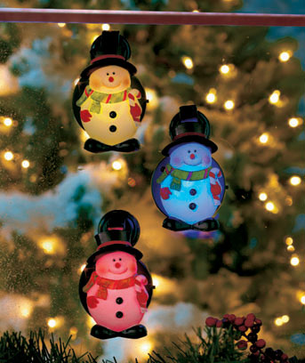 LED Snowman Window Lights