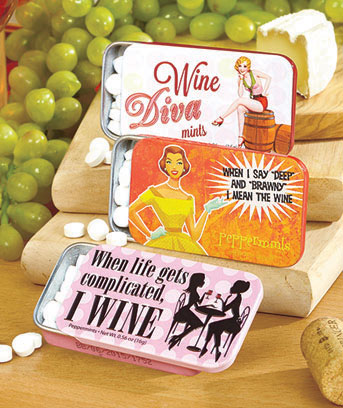 Wine Set of 3 Novelty Mint Tins