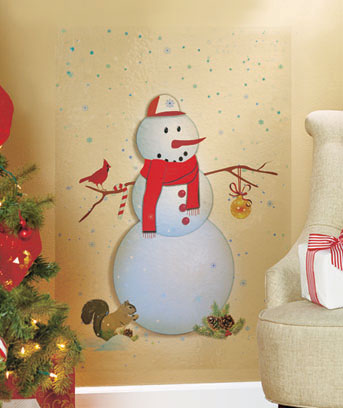Snowman Holiday Wall Decal
