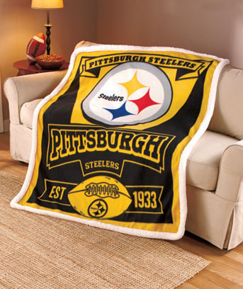 NFL Fleece Throw with Sherpa Trim