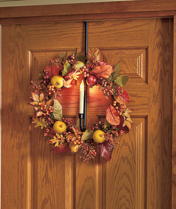 Lighted Candlestick Wreath Hanger