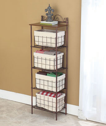 Kitchen Storage Tower with Baskets