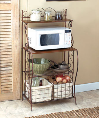 Kitchen Baker's Rack with Baskets