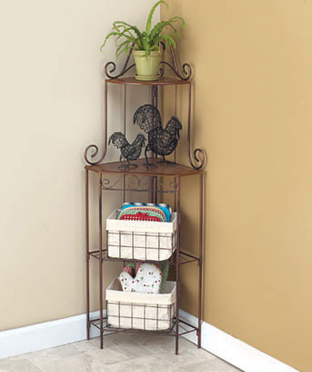 Kitchen Corner Shelf with Baskets