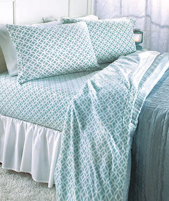 Blue Mosaic Fleece Sheet Sets