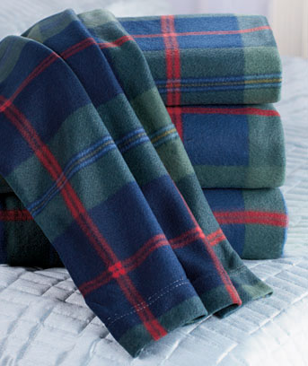 Classic Plaid Fleece Sheet Sets