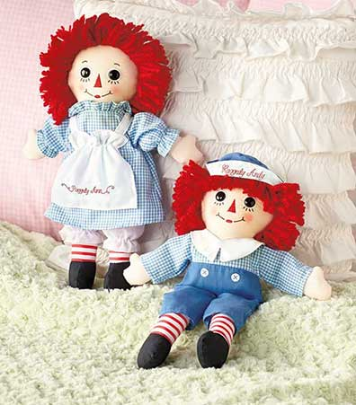 Raggedy Ann� or Andy� Fabric Dolls