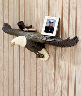 3-D Wildlife Bird Wall Shelves
