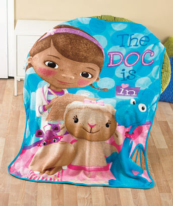Doc McStuffins Licensed Character Plush Fleece Throw