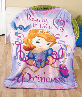 Sofia the First Licensed Character Plush Fleece Throw