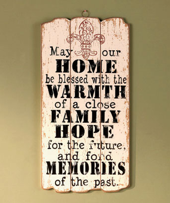 Home, Warmth, Family Wooden Panel Wall Hanging