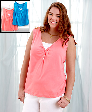 Women's Plus Sets of 2 Tank Tops