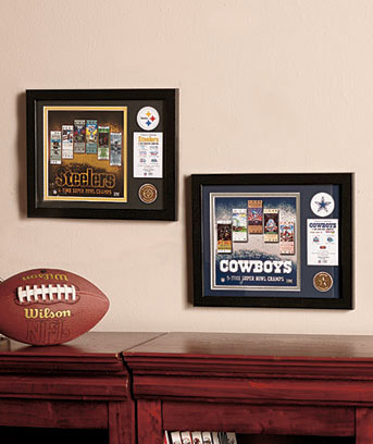 NFL Framed Super Bowl Collectibles
