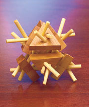 Triangles Bamboo Brain Bender Puzzle