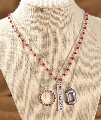 Collegiate Silver-Plated Necklace Trios
