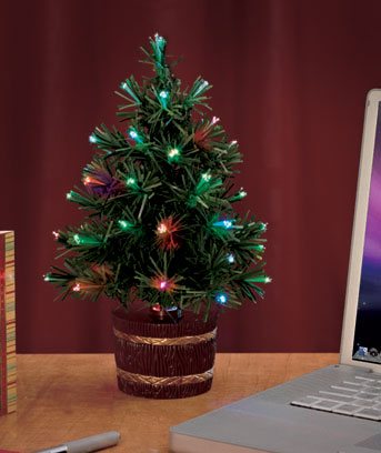 "12"" Fiber-Optic USB Christmas Tree"