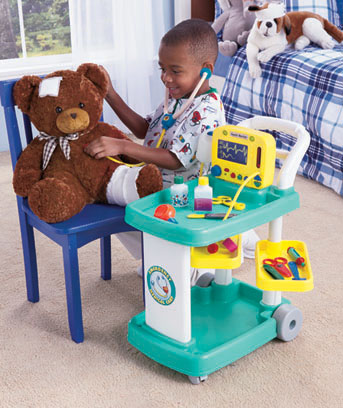Emergency Medical Cart Playset