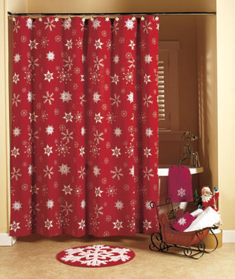 Crimson Snowflake Bathroom Collection