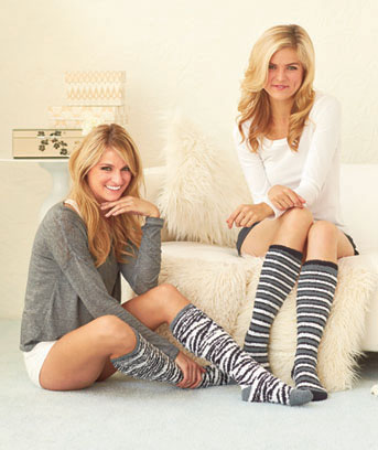 4-Pair Animal Print Super-Soft Knee-Highs