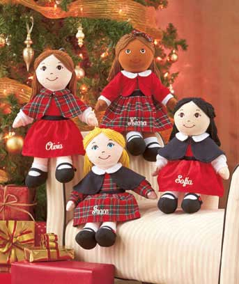 Personalized Holiday Rag Dolls