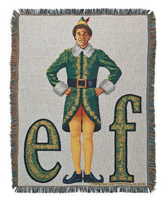 Elf Tapestry Christmas Movie Throw