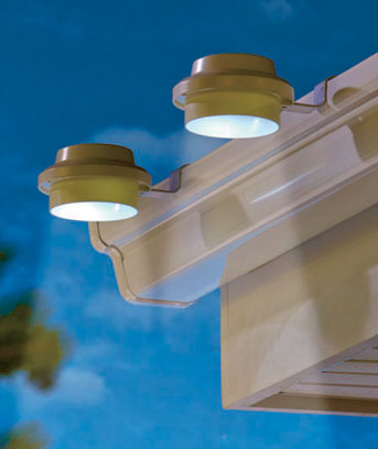 Set of 2 Gutter Solar Lights