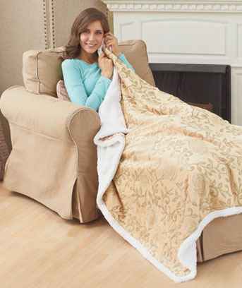 Kensington Rose Sherpa Throws