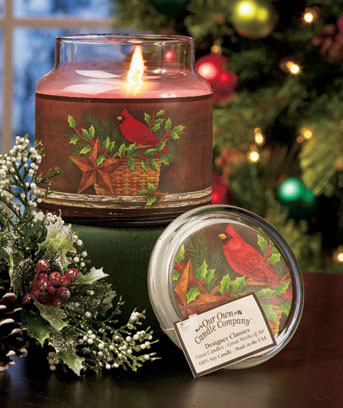 Cardinal Premium Winter Art Jar Candle