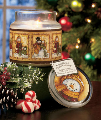 Snowmen Premium Winter Art Jar Candle