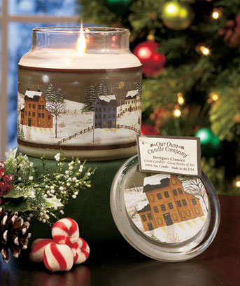 Winter Scene Premium Winter Art Jar Candle