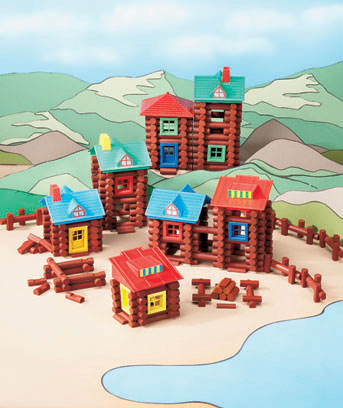 Wood Log Building Sets