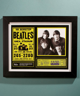Beatles Shea Stadium Rock & Roll Memorabilia