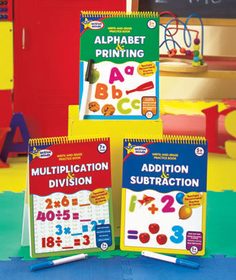 Educational Wipe-Off Learning Books