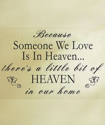Heaven Wall Quote