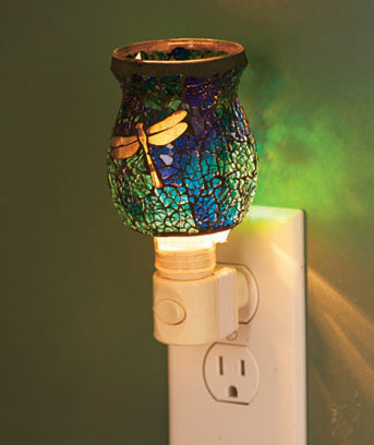Dragonfly Mosaic Glass Night Light