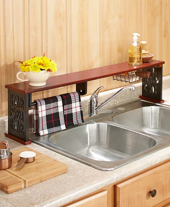 Over-the-Sink Shelf W/ Paper Towel Holder