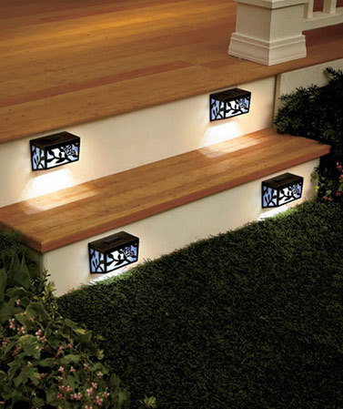 Set of 4 Solar Step Lights