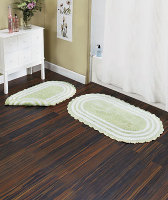 Reversible Cotton Bath Rugs