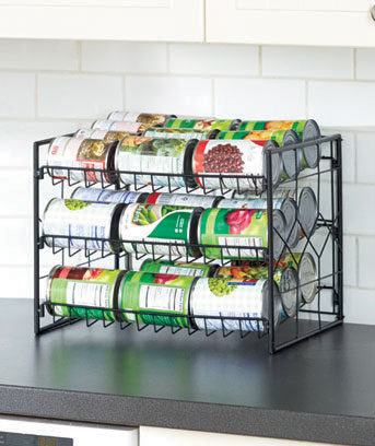 Black Kitchen Storage Organizers
