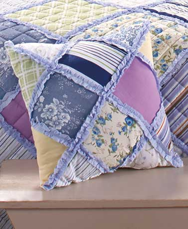 "Springtime Ragged 16"" Decorative Pillow"