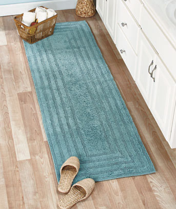 "Reversible Cotton Bath Rugs or 72"" Runners"