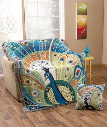 Colorful Tapestry Throws or Pillows