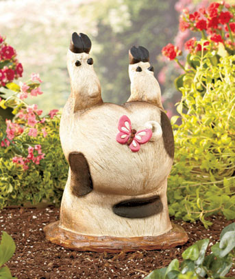 Whimsical Bottoms-Up Statues